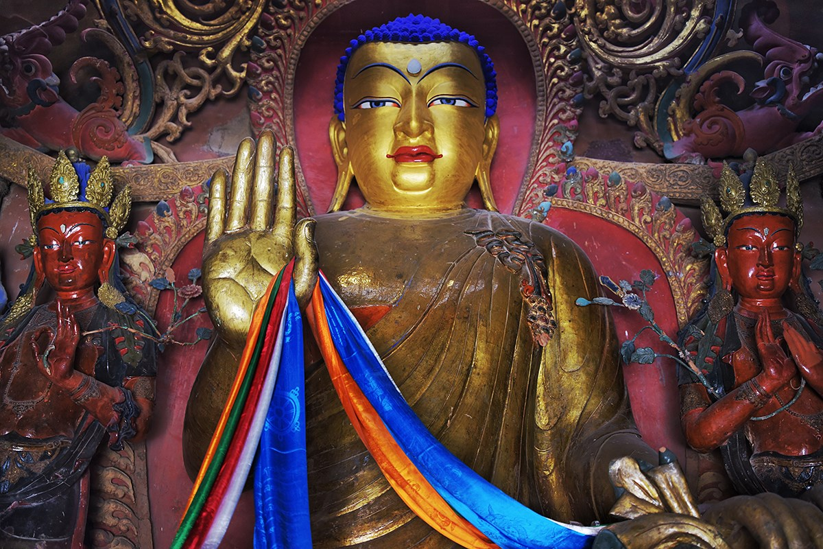 Buddha Statue in Kumbum_Stupa of Palkhor Monastery | Photo par Liu Bin